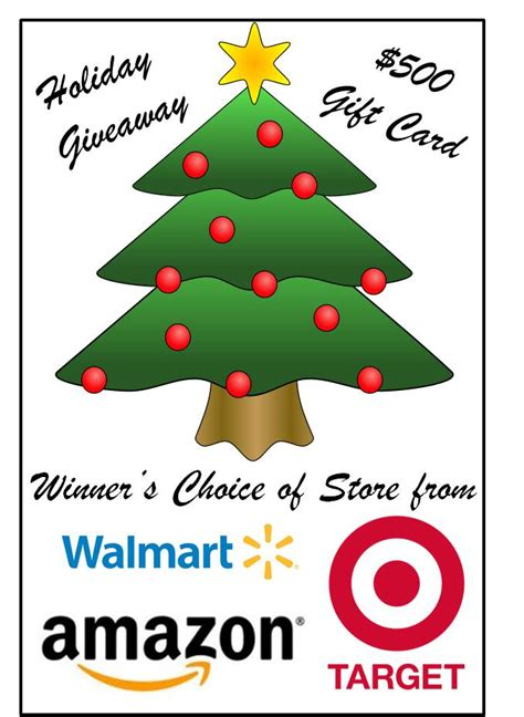 How To Get A Free 500 Walmart Gift Card - 500 amazon wal mart or target holiday gift card giveaway