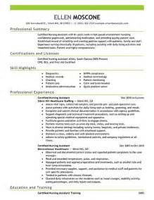 Resume Cna Exles by Certified Pharmacy Technician Resume Sle Resume Exles Certified Nursing Assistant 1