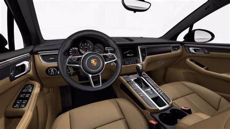 porsche black interior available 2017 porsche macan interior leather options