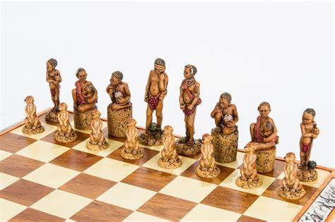 Afrika Set by Bushmen Chess Set 187 Kumbula Shop