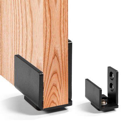 Barn Door Height Floor - yosoo barn door floor guide 1pc black steel hardware
