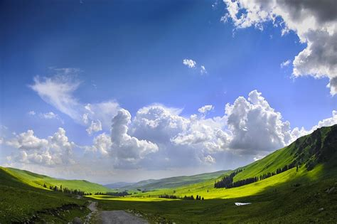 Free photo: The Scenery, Blue Sky, White Cloud   Free