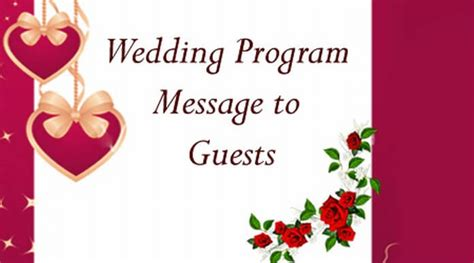 Wedding Message To Guests by Wedding Program Message To Guests
