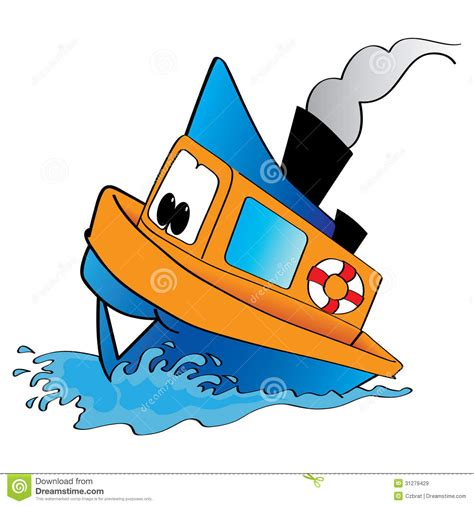 tugboat cartoon tugboat royalty free stock images image 31279429