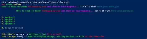 powershell write host color foreground colors in powershell in one command