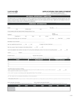 yogurtland job application pdf fill online printable safeway job application pdf fill online printable