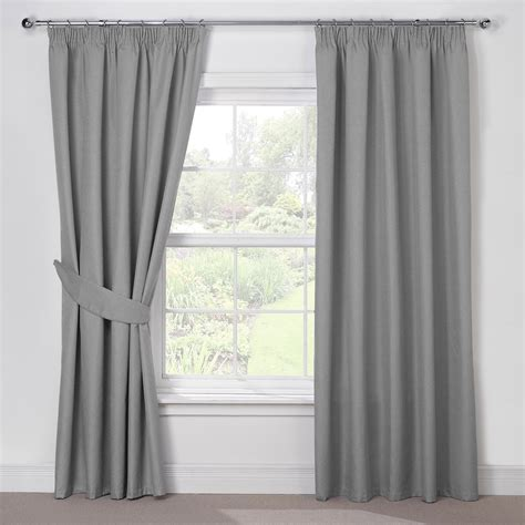 curtains gray luna silver grey luxury thermal blackout pencil pleat