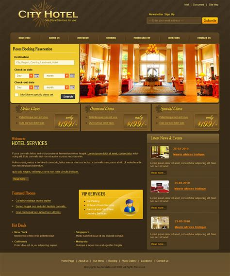 17 best images about free hotel html templates on css templates codes for hotels
