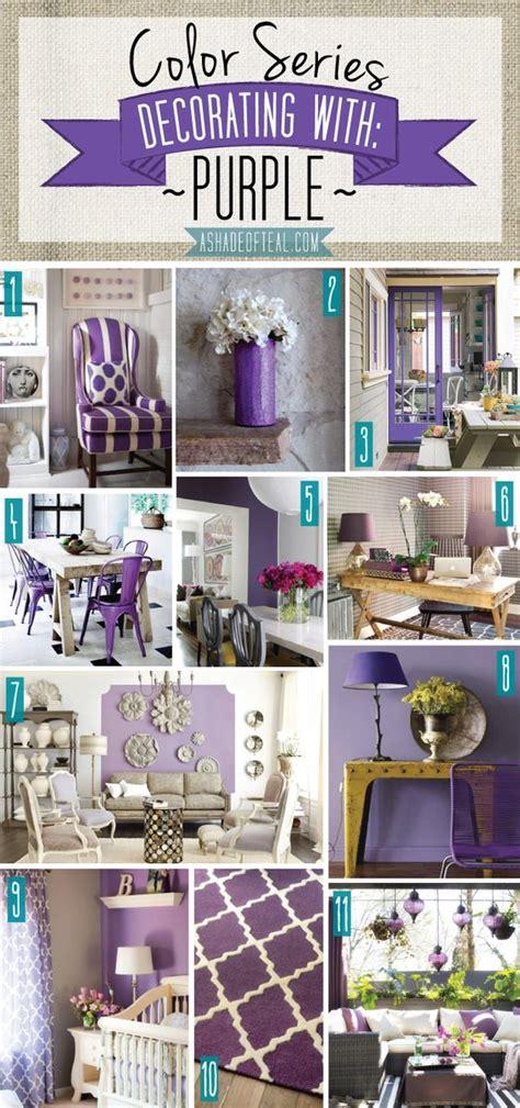 color series decorating  purple purple home decor