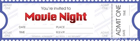 printable movie tickets coupons make your own movie night tickets