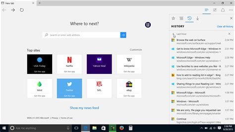 windows 10 edge browser tutorial manage browser history in microsoft edge tutorial