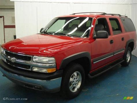 chevrolet suburban red 2001 victory red chevrolet suburban 1500 ls 4x4 7664045