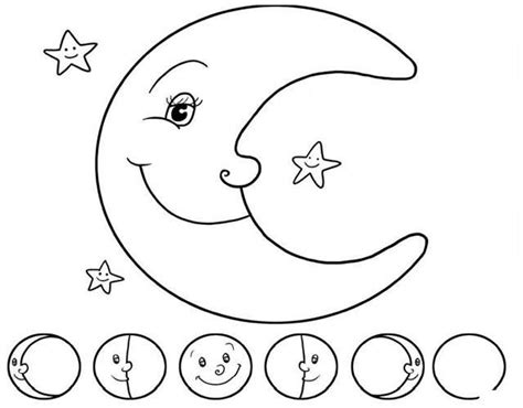 fases de la luna para ninos luna para colorear gallery