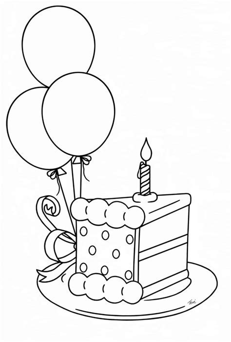 Birthday Cake Slice Drawing Images And Clip Art