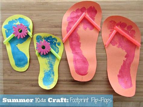 cool summer crafts for summer craft footprint flip flops crafts summer