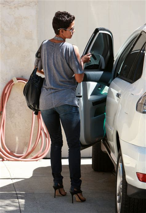 Halle Berry Makes Out With The Ground by Halle Berry In Halle Berry Out About In Los Angeles Zimbio
