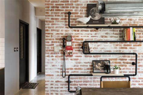 Pipe Interior by Creative Pipe Shelving Interior Design Ideas