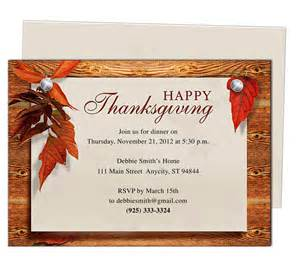 thanksgiving invitation templates 9 best images of thanksgiving printable invitation