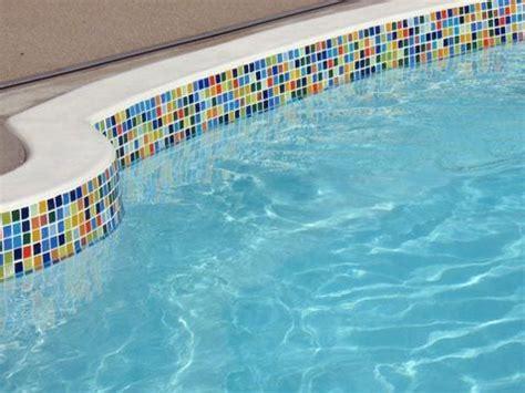 pool tile ideas  pinterest glass tiles pools  tile