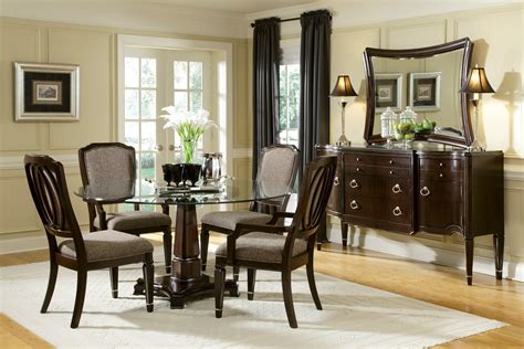 59020 round mirror in dining room dining room transitional home design 85 enchanting small round dining table sets