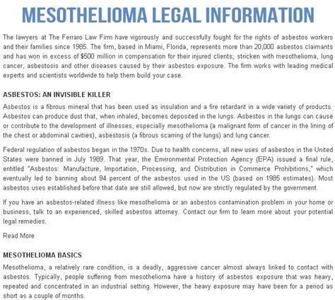 Mesothelioma Settlement Fund 2 by Average Mesothelioma Settlement Info