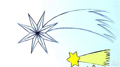 imagenes para dibujar a lapiz estrellas como hacer una estrella fugaz youtube