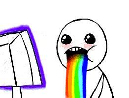Drooling Rainbow Meme - barf