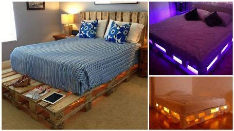 diy pallet beds with lights how to build a glowing led pallet bed our home sweet home