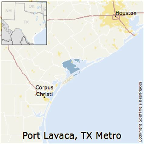 port texas map best places to live in port lavaca metro area texas