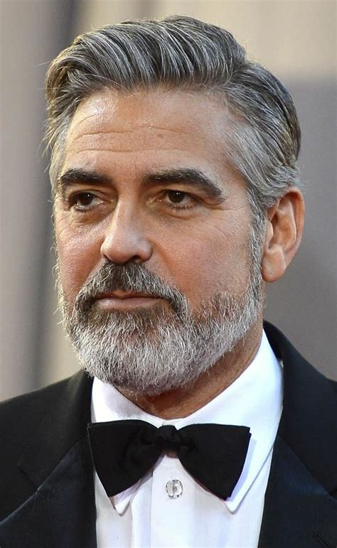 actor with long white beard top 10 celebrity beards brad pitt george clooney zac