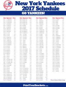 yankees home schedule printable new york yankees baseball schedule 2017