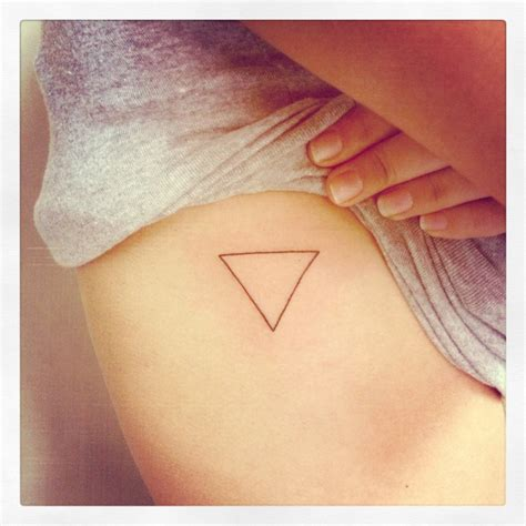 two triangles tattoo 205 best images on geometric tattoos