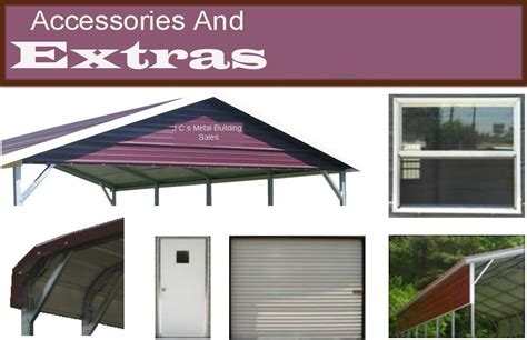 Carport Parts And Accessories accessories and extras metal buildings carports aluminum garages sheds guard shacks stands