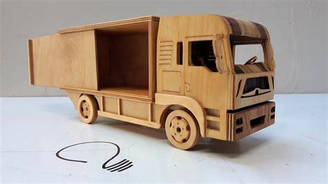 man  ton truck wooden car model youtube