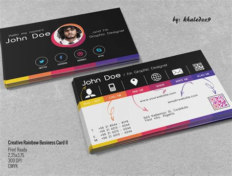 cards creative creative rainbow business card ii by khaledzz9 on deviantart