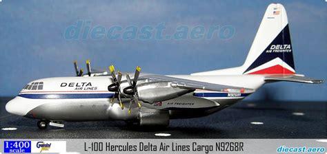 model aircraft l 100 hercules delta air lines cargo n9268r by diecast aero