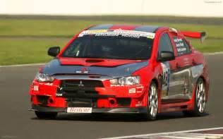 Mitsubishi Racing Mitsubishi Evo X Race Car Debut Widescreen Car