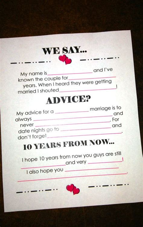 templates for wedding advice cards 2 advice cards wedding receptions wedding and guest books