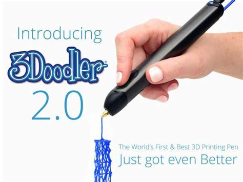 3doodler printing pen 3doodler 2 0 3d printing pen gadgetsin