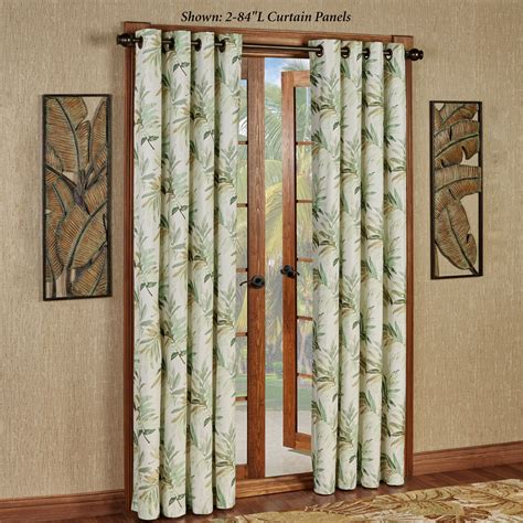 leaf curtains paradise leaf thermal grommet curtain panels