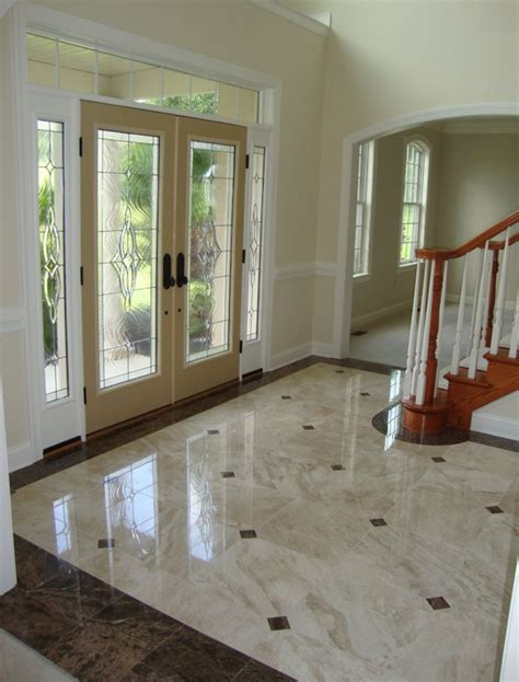 beautiful marble floor in the foyer foyer renovation custom kitchen bathroom remodeling