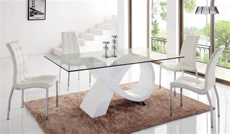 unique rectangular in wood clear glass top dining room design corpus christi esf989
