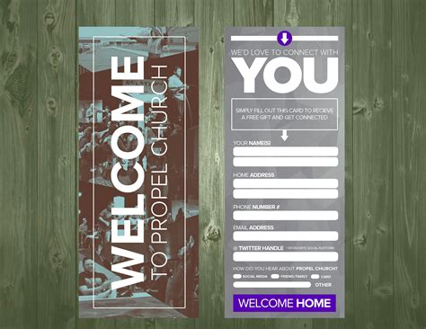visitor card template psd 3 5 215 9 psd connection card template church visitor ideas