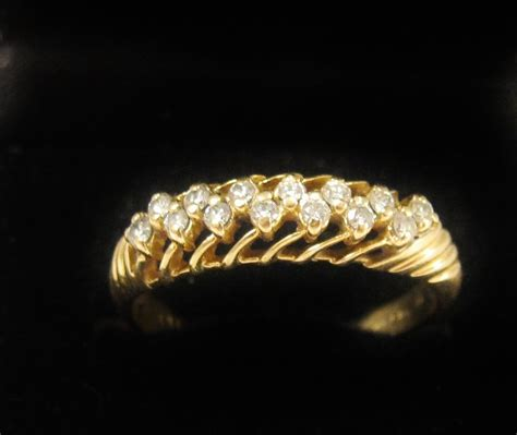 vintage 9ct gold ring hobart town antique