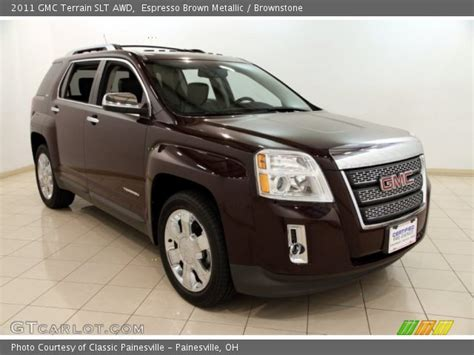 2011 gmc terrain interior espresso brown metallic 2011 gmc terrain slt awd