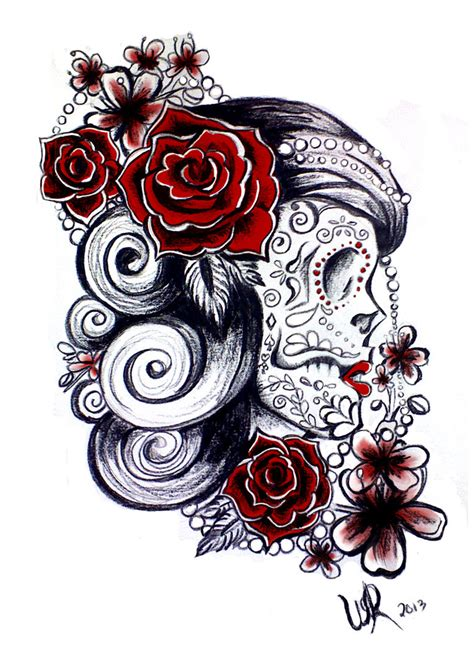 sugar skulls tattoo designs sugar skull design by ayeri on deviantart