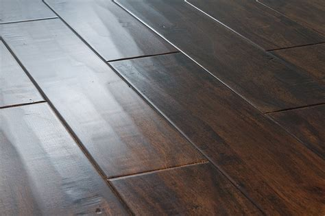 Floating Engineered Hardwood Flooring Vanier Engineered Hardwood Acacia Collection Acacia Handscraped Walnut 4 7 8 Quot 5 8