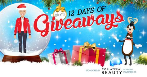 Ellen 12 Days Of Giveaways 2016 Winners - ellen tv 171 12 ways to win 12 days 171 infinite sweeps