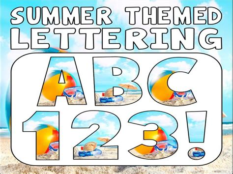 theme names for summer c summer themed display lettering letters numbers