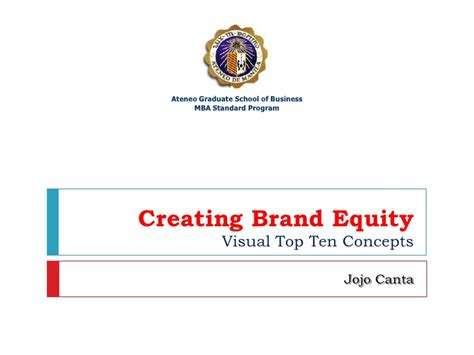 Top Mba Schools For Equity by V47 Ch9 Creating Brand Equity Visual